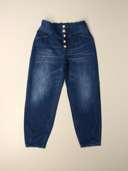 Gilda denim used stretch carrots bottoni gioiello