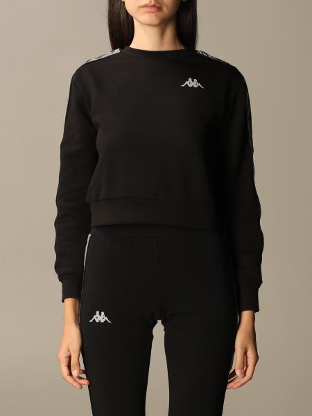 Kappa: Cropped crewneck sweatshirt with logoed bands