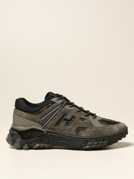 Hogan men: Urban Trek Hogan sneakers in suede and camouflage fabric