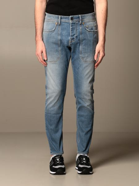 Jeckerson: Jeans Jeckerson in denim stretch triblend con toppe
