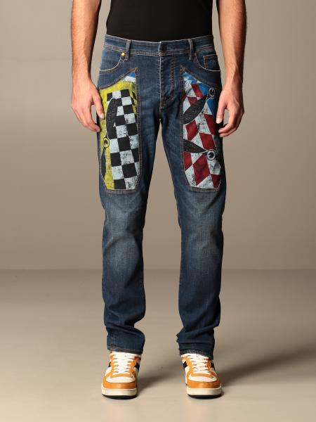 Jeckerson: Jeans Jeckerson in denim tapered con toppe paracadutista