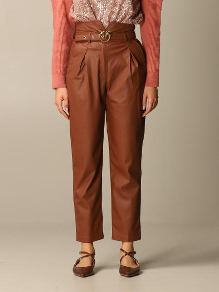 Aurelio high waisted faux leather with belt