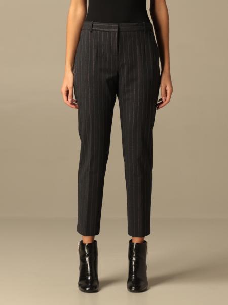Pinko donna: Pantalone Bello 92 Pinko gessato