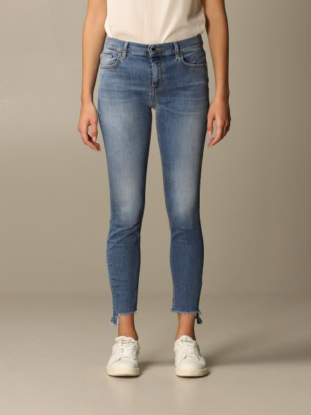 Sabrina 25 skinny denim fringed bottom