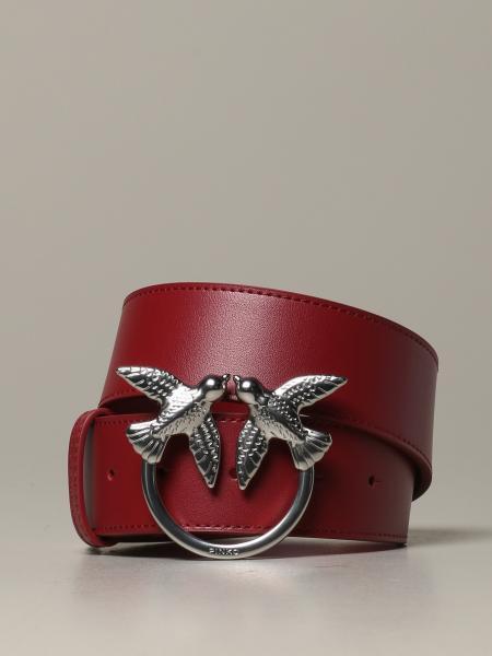 Cintura Berry Simply Pinko in pelle con fibbia Love Birds