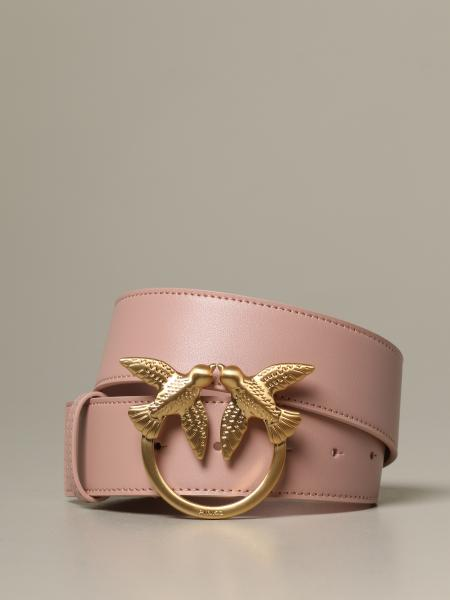 Berry Simply Pinko leather belt with Love Birds buckle