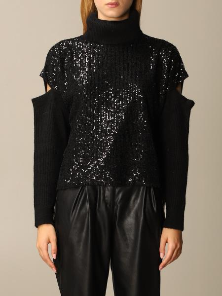 Blizzard turtleneck with sequin panel