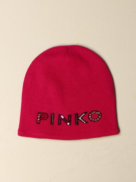 Pinko Tropical hat in cotton blend with rhinestone logo