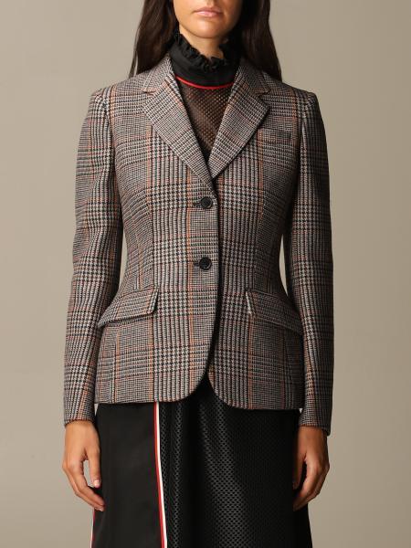 Giacca Prada in lana e cashmere check