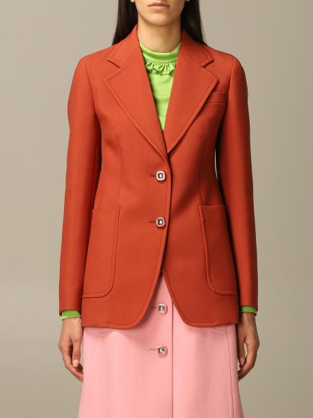 Prada wool jacket with jewel buttons