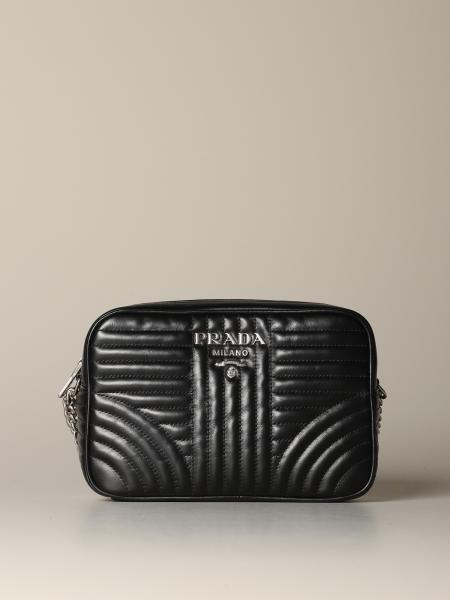 Prada Diagramme 绗缝皮革相机包