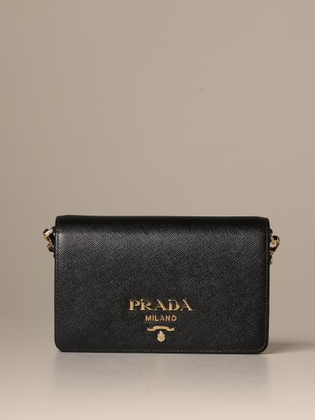 Prada shoulder bag in genuine saffiano leather