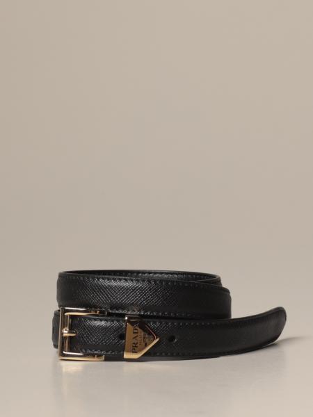 Prada belt in saffiano leather