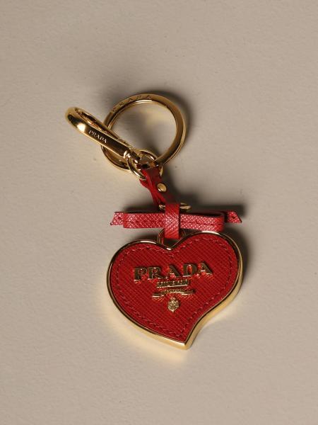 Porte-clés trick Prada en cuir saffiano et métal