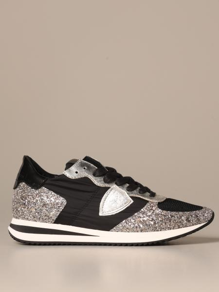 Sneakers Tropez Philippe Model in nylon e glitter