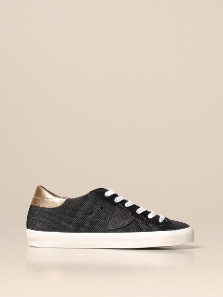 Sneakers Paris Philippe Model in tela glitter