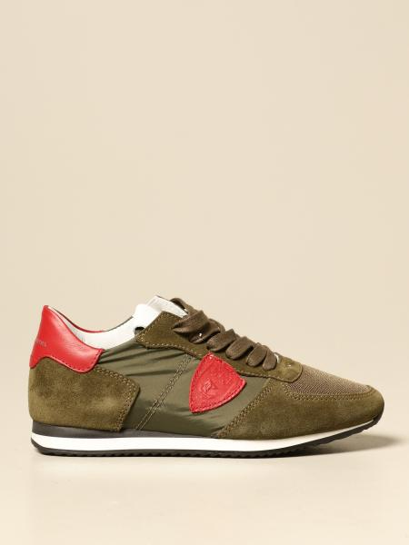 Tropez Junior Philippe Model sneakers in nylon leather and suede