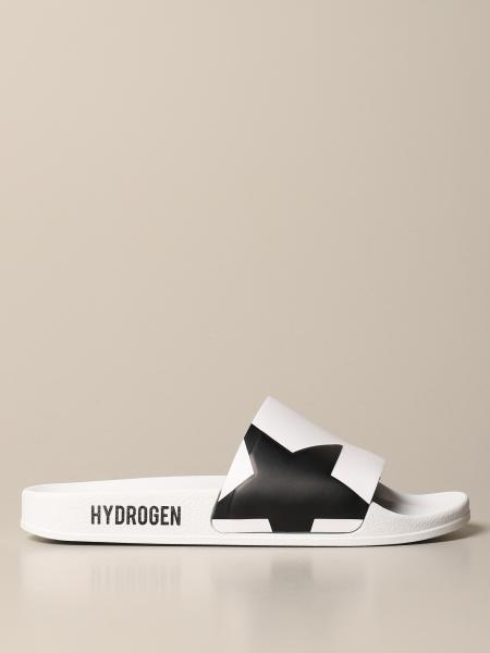 Hydrogen slipper sandal with skull and star