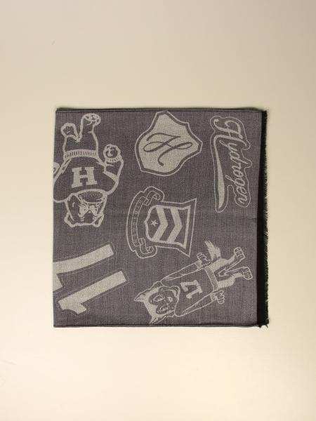 Hydrogen wool scarf with all over logo
