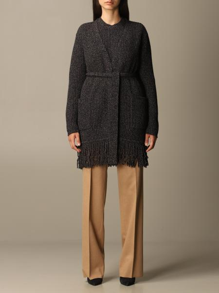 Max Mara women: Max Mara Secolo cardigan with fringes in wool and cashmere