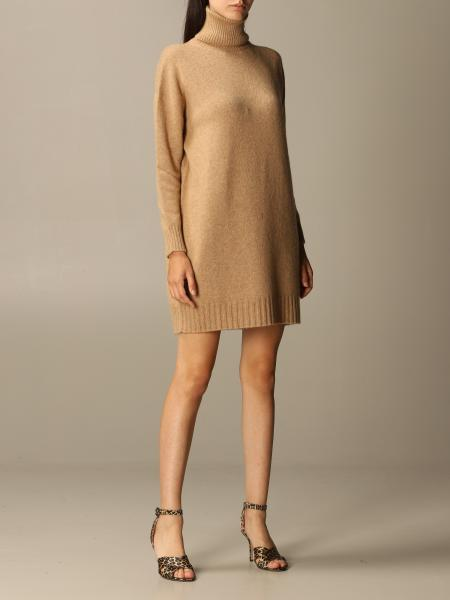 Green Max Mara pullover dress in camel wool