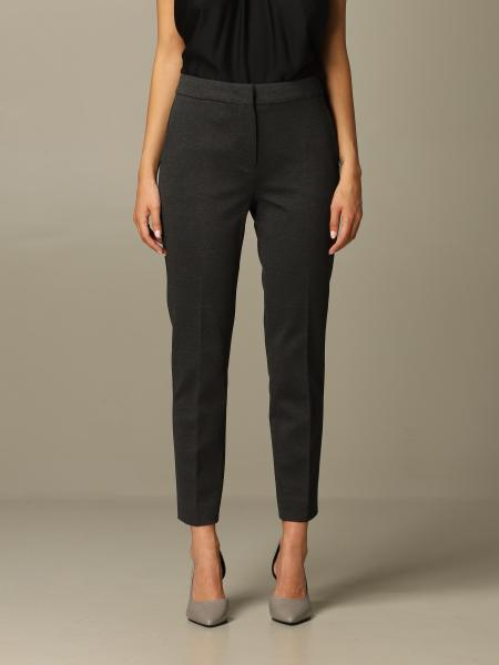Max Mara women: Max Mara trousers in slim fit cotton jersey