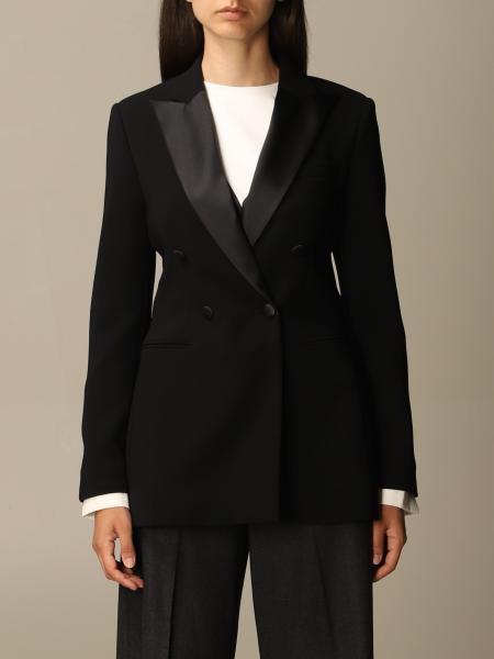 Max Mara women: Lolly Max Mara double-breasted tuxedo jacket