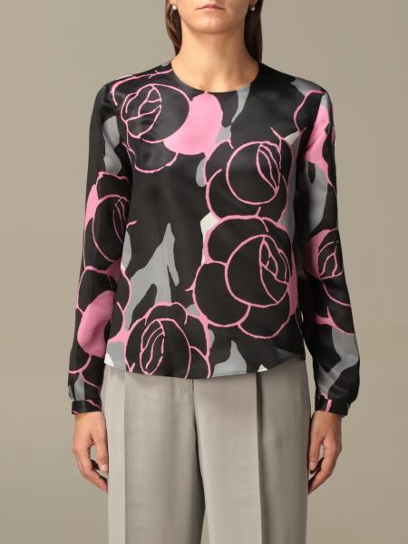 Giorgio Armani blouse in printed silk