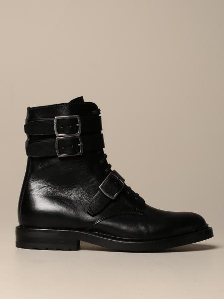 Anfibio Saint Laurent in pelle con fibbie