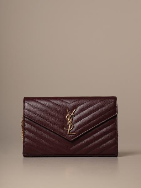 Monogram envelope chain wallet Saint Laurent 手袋,粒面皮革