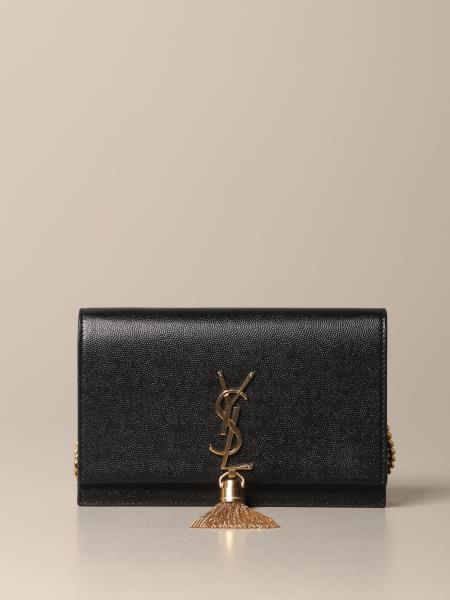 Kate Monogram Saint Laurent 手袋,粒纹皮革