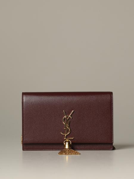 Borsa Kate Monogram Saint Laurent in pelle grain de poudre
