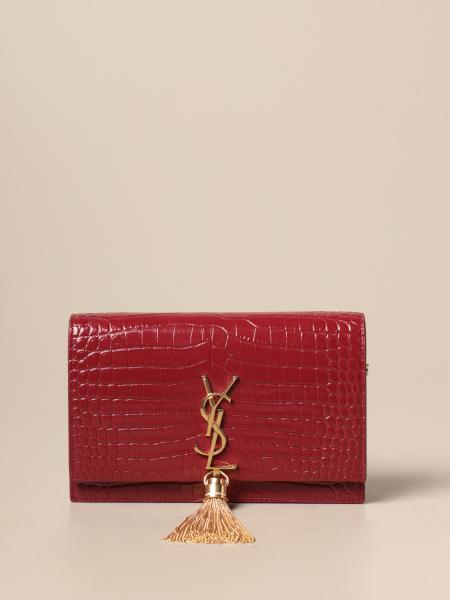 Kate Monogram Saint Laurent Tasche aus Leder mit Kroko Print