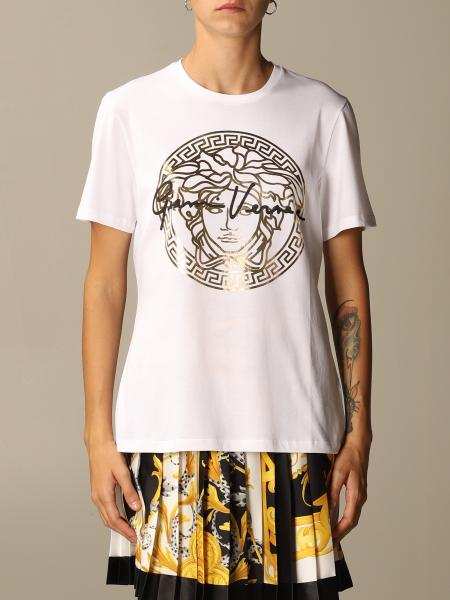 Versace T-shirt with Medusa logo and signature