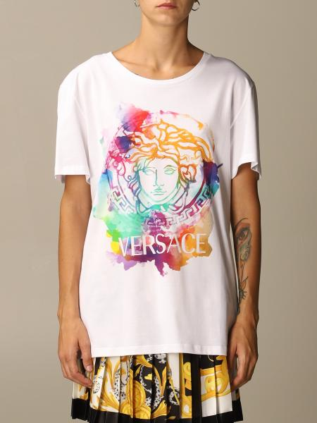Versace T-shirt with watercolor Medusa logo