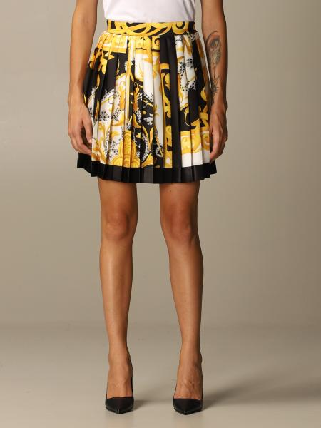 Versace pleated skirt with Baroque Acanthus print