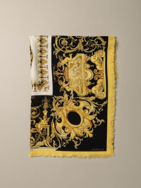 Versace silk and cashmere foulard with baroque print