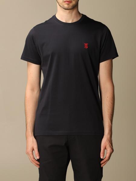 Burberry uomo: T-shirt Parker Burberry in cotone stretch con monogramma TB