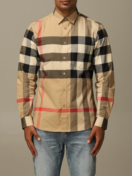 Somerton Burberry shirt in stretch cotton poplin with check pattern