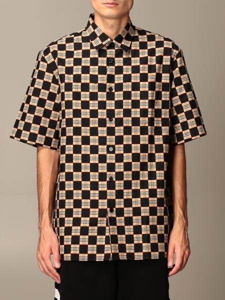 Trulo Burberry shirt in cotton with checkerboard print
