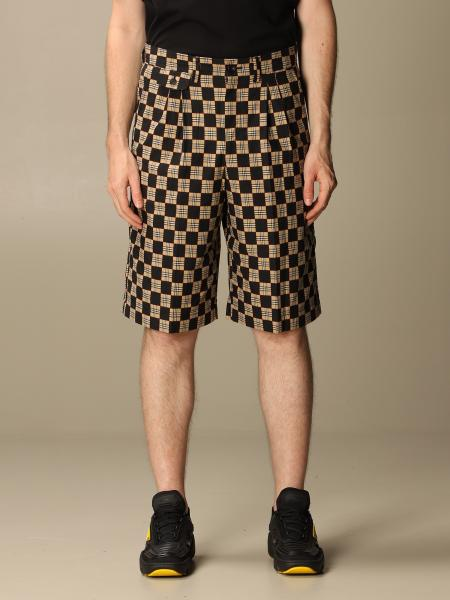 Burberry tailored checkered cotton shorts