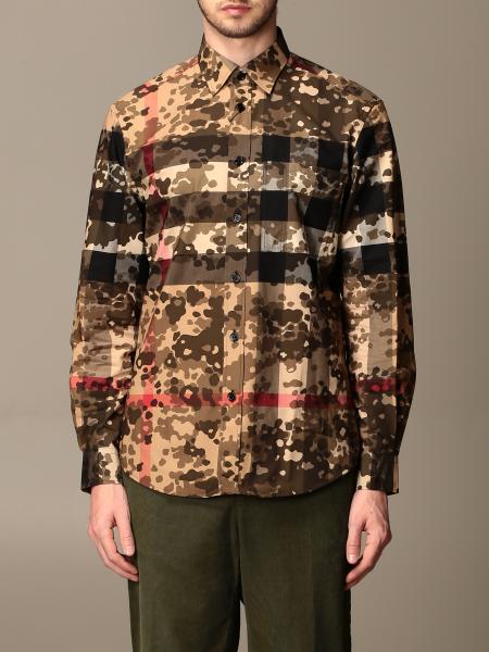 Burberry uomo: Camicia Criston Burberry in cotone check con motivo camouflage