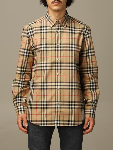 Caxton Burberry shirt in cotton poplin with check pattern
