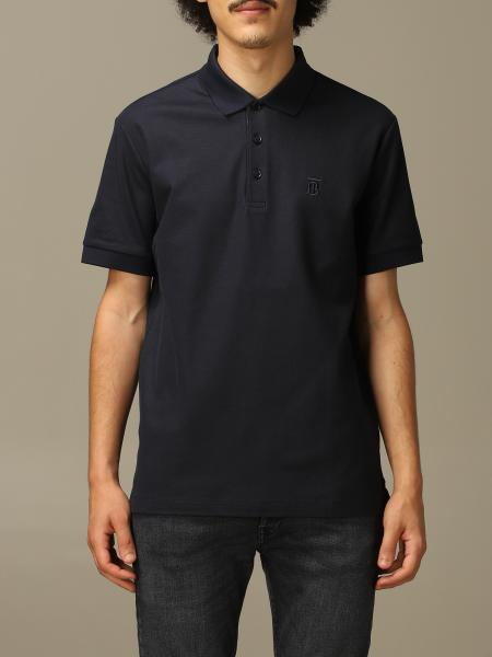 Eddie Burberry polo shirt in cotton pique with TB monogram