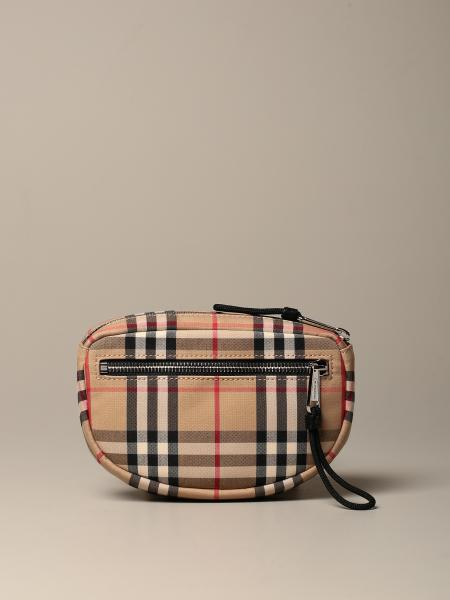 Cannon Burberry belt bag with vintage check motif