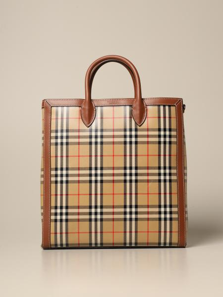 Burberry Kane bag in coated canvas with check pattern