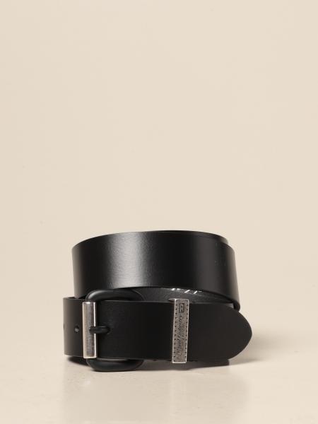 Cintura Diesel in cuoio con logo