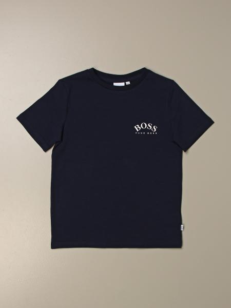 Hugo BOSS Bambini J15393 10B T-shirt Girocollo Bianco
