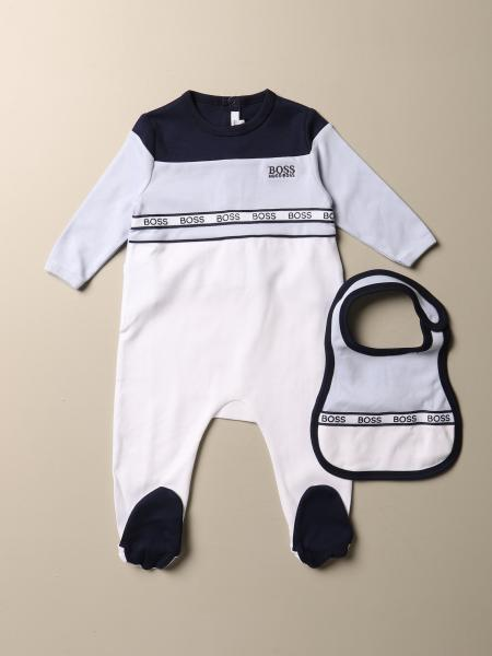 Footed romper set + Hugo Boss bib with logo