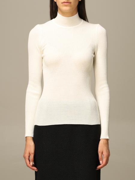 Alberta Ferretti ribbed virgin wool turtleneck